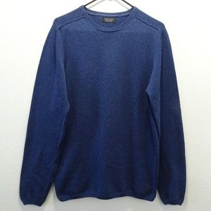 Zara Man Crew Neck Sweater Large Blue